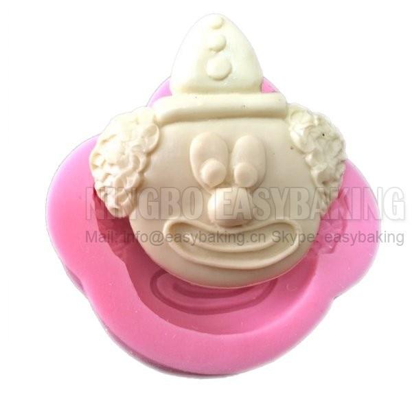 Fondant Clown Shaped Silikon Clay Mold Silikon Cupcake Mold For Fondant Fimo Chocolate Candy Cake Decoration