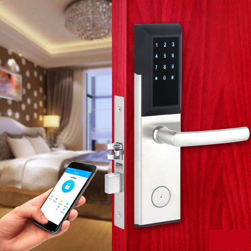 GUJIA Bluetooth Deadbolt Lock Smart Electronic Door Lock With APP For Home, Hotel , Apartment ,  802 lachco card hotel lock digital smart electronic rfid card for office apartment hotel room home latch with deadbolt l16058bs