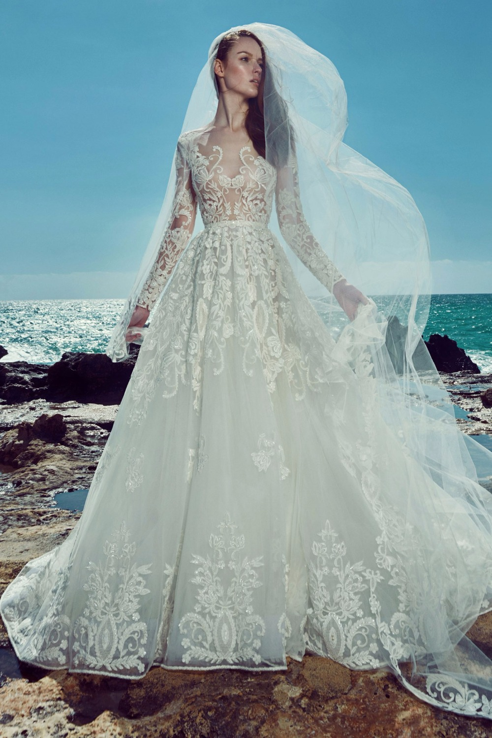 Zuhair murad bride gown vestidos de novia sexy see through ...