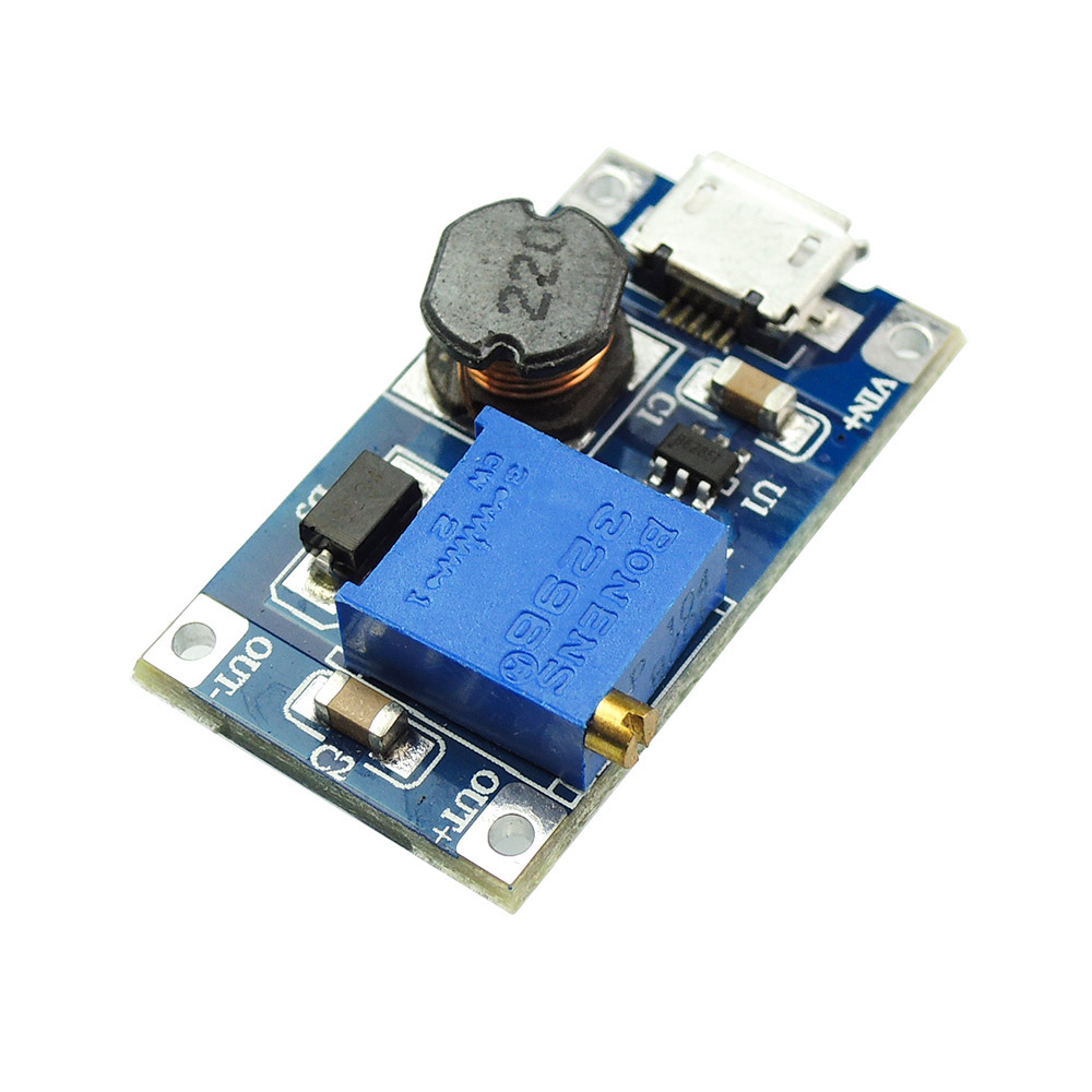 Free Shipping 2A DC-DC Power Supply Converter Step Up Volatge 2-24V Switching to 5-28V Adjustable Regulator with USB Micro Port dc dc adjustable boost module 2a boost plate 2a step up module with micro usb 2v 24v to 5v 9v 12v 28v