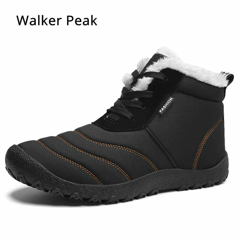 00a43585bcde0 Men Winter Snow Boots 2019 Waterproof Ankle Boot for man Lightweight casual shoes  Warm Mens Rain