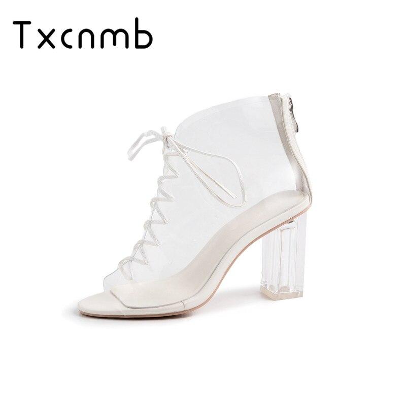 ecf8e544 Botas Zapatos Sandalias Moda 2019 Verano Transparente Boda Pvc Txcnmb  Mujeres De Tacón Alto Mujer Las BrxdCoeW