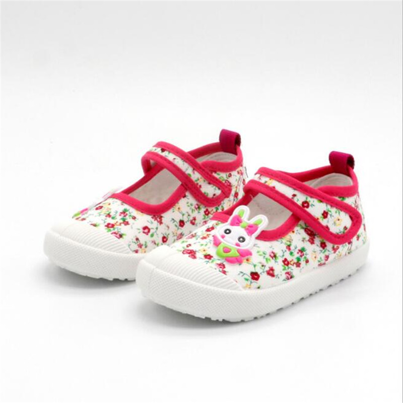 DapChild Kids Shoes For Girl Summer Kids Canvas Sneaker Elastic Band Children Floral Shoe Girls Sport Shoes Spring Baby Footwear db6743 dave bella spring summer baby girl canvas shoes floral casual shoes