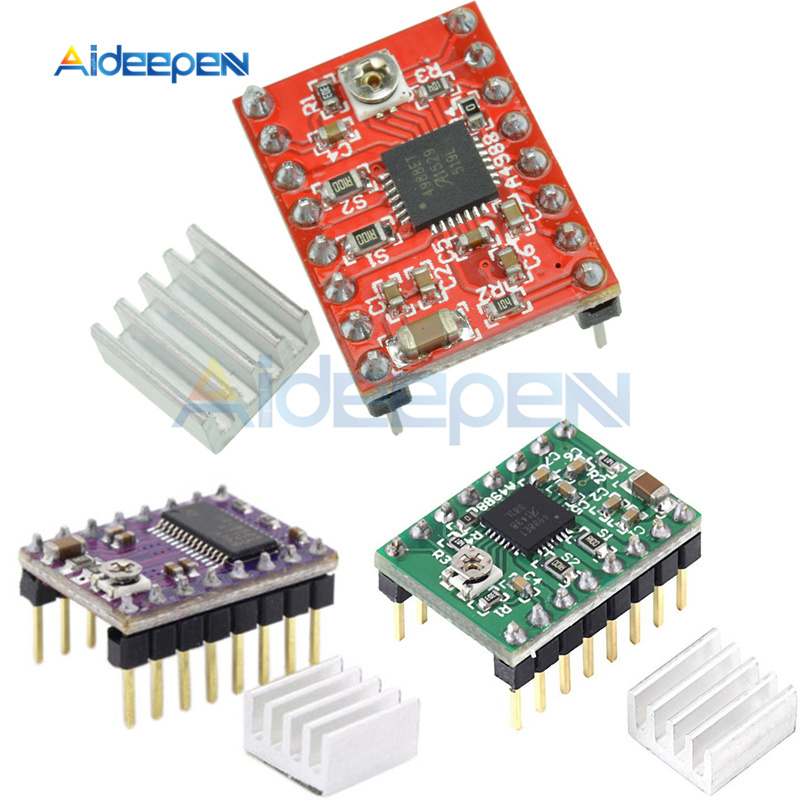 DRV8825 A4988 Stepper Motor Driver With Heat Sink Carrier Reprap 4-layer PCB 3D Printer Parts Replace A4988 Driver