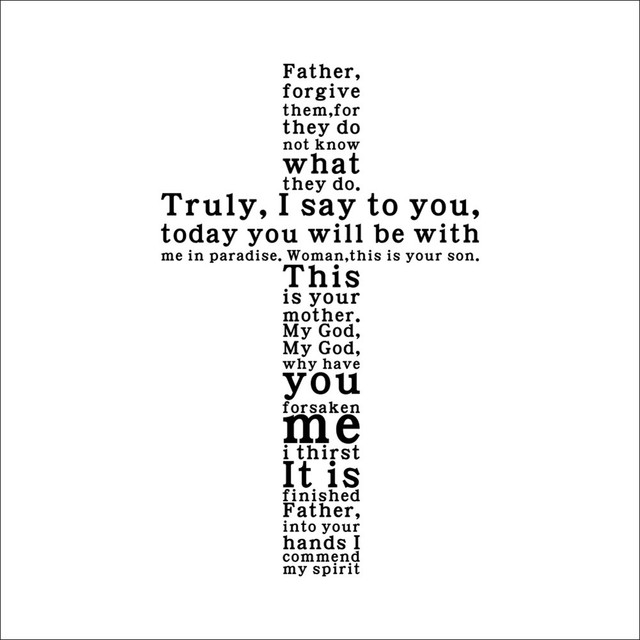 Cross Christian Removable Wall Stickers Jesus Christ Pray Bible Bless Home Decor Church Decoration Wallpaper