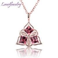 Прекрасный новый Дизайн 18kt розового золота с бриллиантами розовый турмалин подвеска для девочки подарок ювелирных изделий wp066