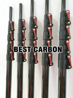 Free Shiping High Quality Carbon Fiber Telescopic Tubes Cleaning Pole Max Extend 7 8 Meters Long
