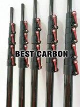 무료 배송 고품질의 일반 광택 탄소 섬유 텔레스코픽 튜브, 청소 극, 최대 길이 7.8 미터 연장