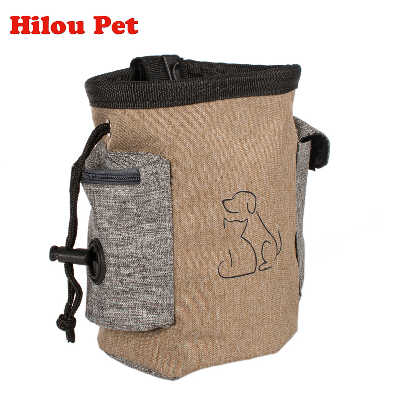 Dog Treat Pouch Dog Training Treat Bags Portable Detachable Dog Pet Feed Pocket Pouch Puppy Snack Reward Waist Bag