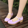 Korean Womens Low Heel Pumps Ankle Strap College Mary Janes Dating Shoes US4.5-8