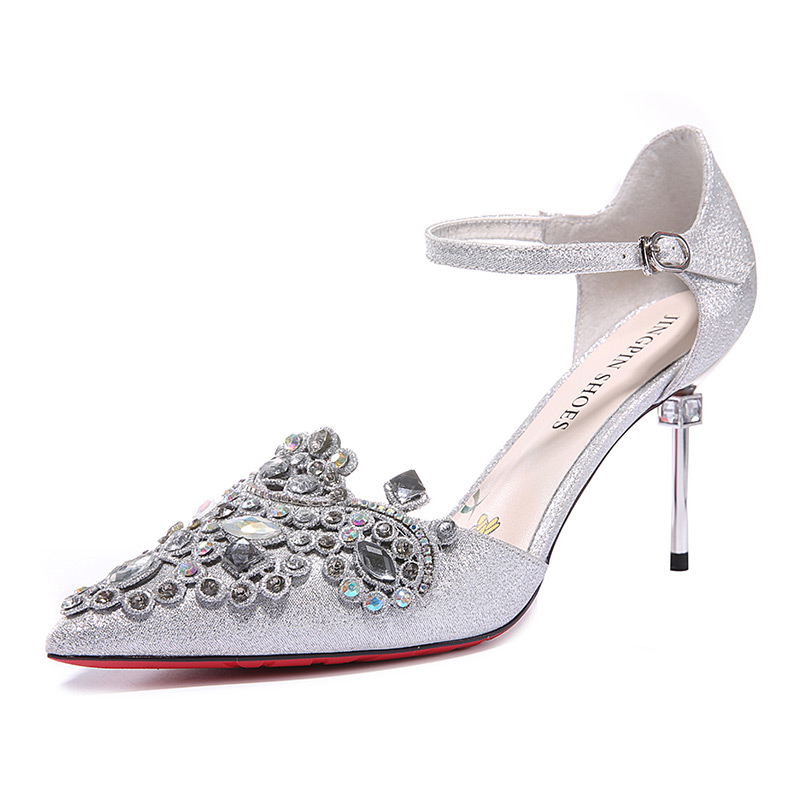 ФОТО Women's Summer 2017 Pink Flower Print Cyrstal Bling Decoration Red Bottom Party Wedding Bride Travel Walk Girl Lady Pumps Shoes