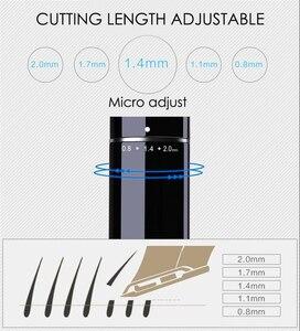 Image 2 - Cortadora de pelo profesional Turbo recargable para hombre, cortador eléctrico, Máquina para cortar cabello, peluquería, F17, 100 240V