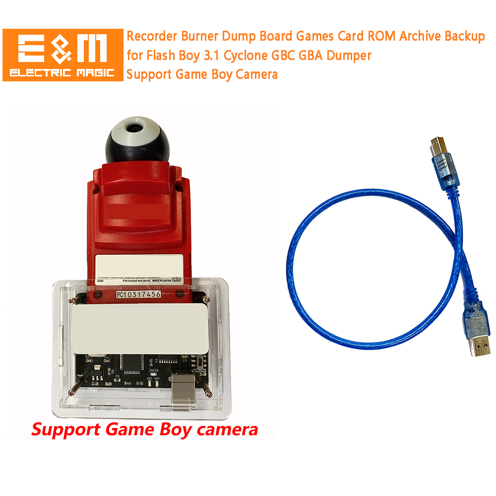Recorder Burner Dump Board Games Card ROM Archive Backup for Flash Boy 3.1 Cyclone GB GBC GBA Dumper Support Game Boy Camera