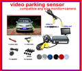 Auto Parking video System with video in connect camera. video out connect monitor 4 sensor radar parking system