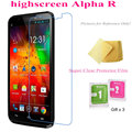 5pcs Super Clear Screen Protector Film for Highscreen Alpha R Transparent Screen Guard  Protective Films