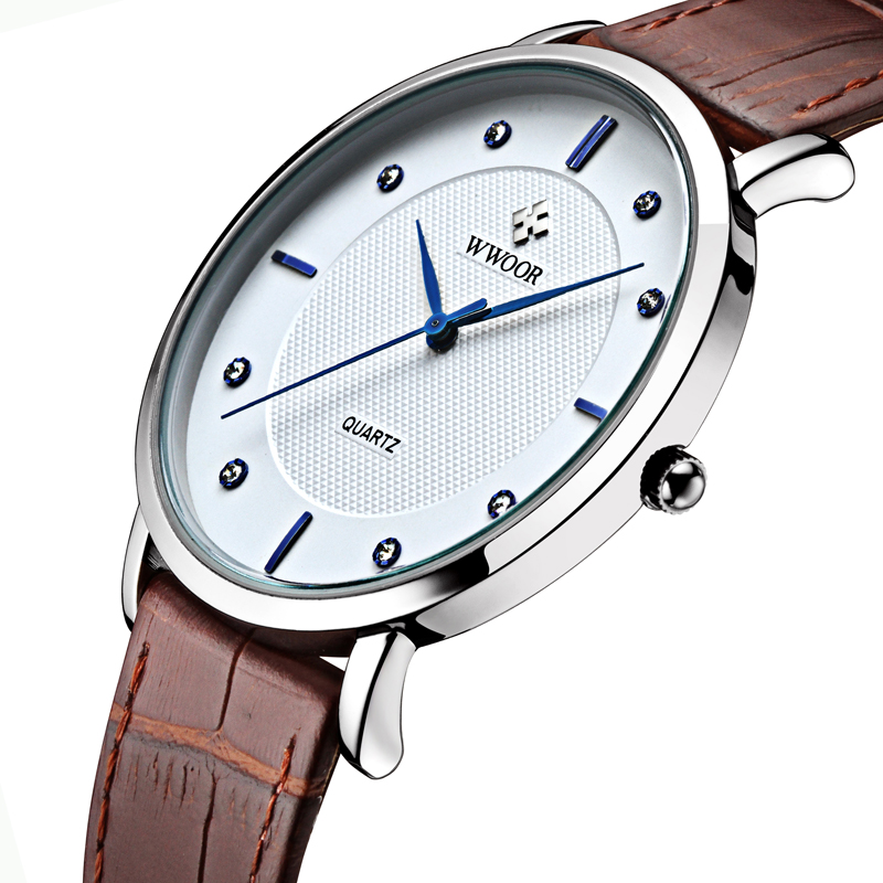 New Top Brand Men Sports Watches Men's Quartz Ultra Thin Clock Genuine Leather Strap Casual Wrist Watch Male Relogio Waterproof