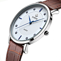 New Top Brand Men Sports Watches Men S Quartz Ultra Thin Clock Genuine Leather Strap Casual