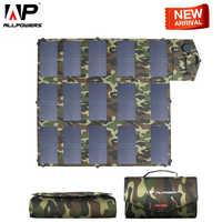ALLPOWERS nuevo Panel Solar 100W Cargador Solar de Color de camuflaje 5v 12V 18V al aire libre plegable Cargador Solar portátil USB PUERTO DE CC