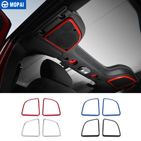 MOPAI Car Stickers for Jeep Wrangler JK 2015 2017 Car Roof Speaker Decoration Cover for Jeep Wrangler JK Car Accessories Styling