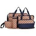 5 en 1 Nuevo diseño del envío libre del pañal del bebé bolsas para bolsa de mamá bebé viajes nappy bolsos organizador cochecito de Bebe para maternidad