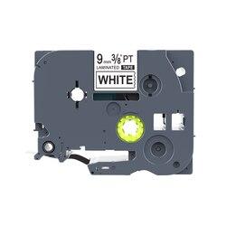 2 sztuk 9mm czarny na białym TZ221 TZe 221 taśma z etykietami kompatybilny dla TZe-221 TZ-221 kaseta z taśmą dla P- dotykowy do tworzenia etykiet
