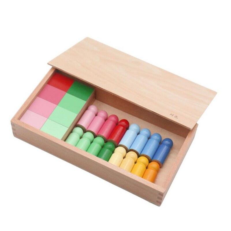 Montessori sensoriels aides pédagogiques en bois développement intellectuel des enfants couleur jouets cognitifs jouets éducatifs précoces