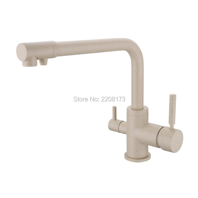 High Quality 100 Solid Brass Reverse Osmosis Three Way Sink Mixer 3 Way Water Filter Tap