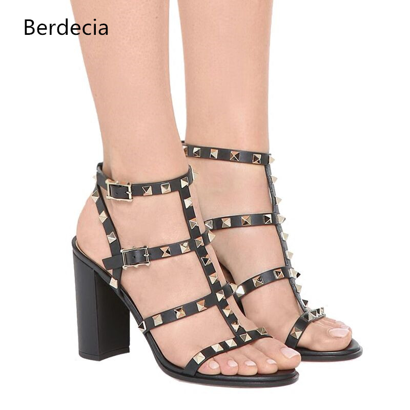 bdc0cc30cd0 Online Get Cheap Stud Block Heel Sandal -Aliexpress.com