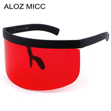 ALOZ MICC Sunglasses Women Fashion Flat Top Oversize Shield Visor Men Windproof Goggles UV400 Q4391