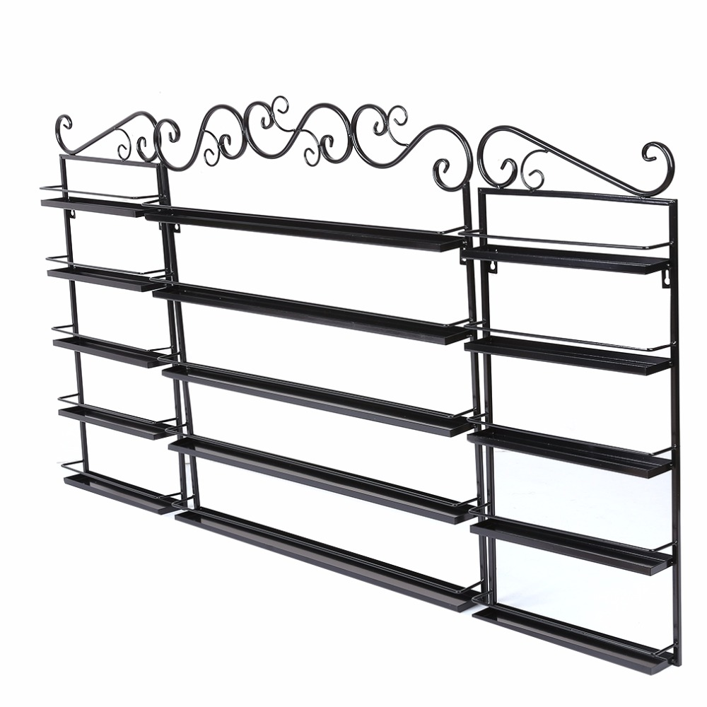 5 Layers Durable Metal Wire Big Size Nail Polish Display Organizer Wall Rack Hold 120 To ...
