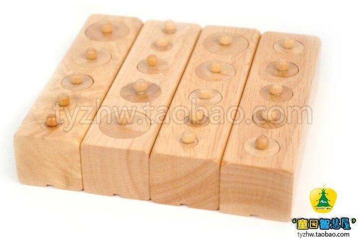 Jouets en bois éducatifs cylindre Socket blocs jouet bébé développement pratique et sens jouet cadeau