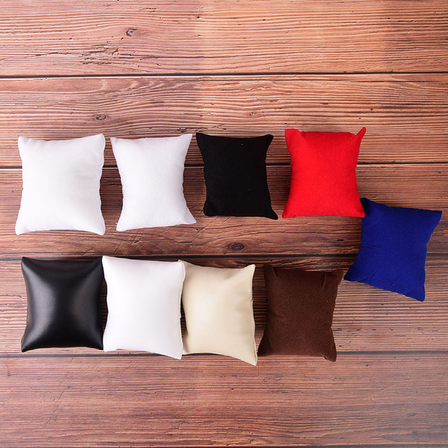 ПУ или бархат кожаный браслет подушка для часов Коробки для показа ювелирных изделий держатель Органайзеры