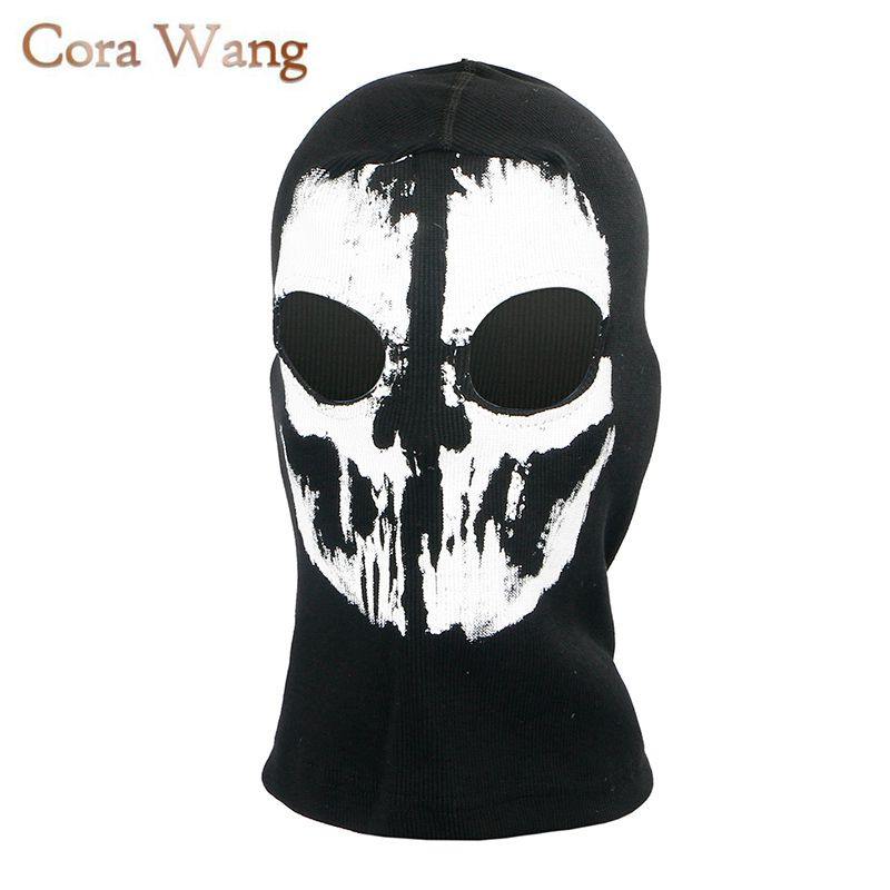 Winter Motorcycle Skull Windproof Ghost Face Mask Bicycle Balaclavas Scarf Halloween Cosplay Skullies Beanies Wargame halloween skull skeleton adult kids motorcycle headwear hat scarf half face mask cap neck ghost scarf