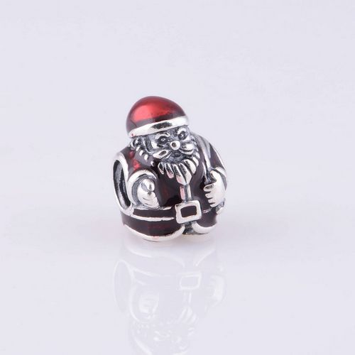 Fits Pandora Charm Bracelet Authentic 925 Silver Beads Christmas Santa Claus European Charm Women Jewelry Drop