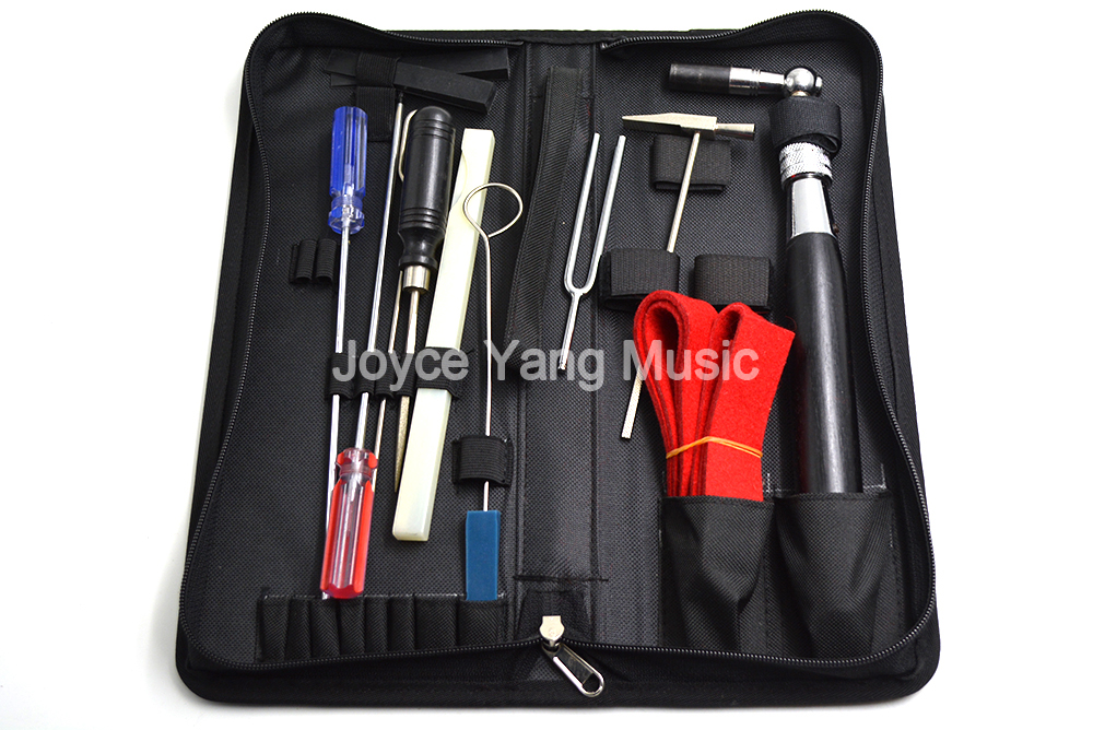 Set of 10pcs Piano Tuning Maintenance Tools Kit For Piano Tuning Wrench Wooden Handle Accessories with