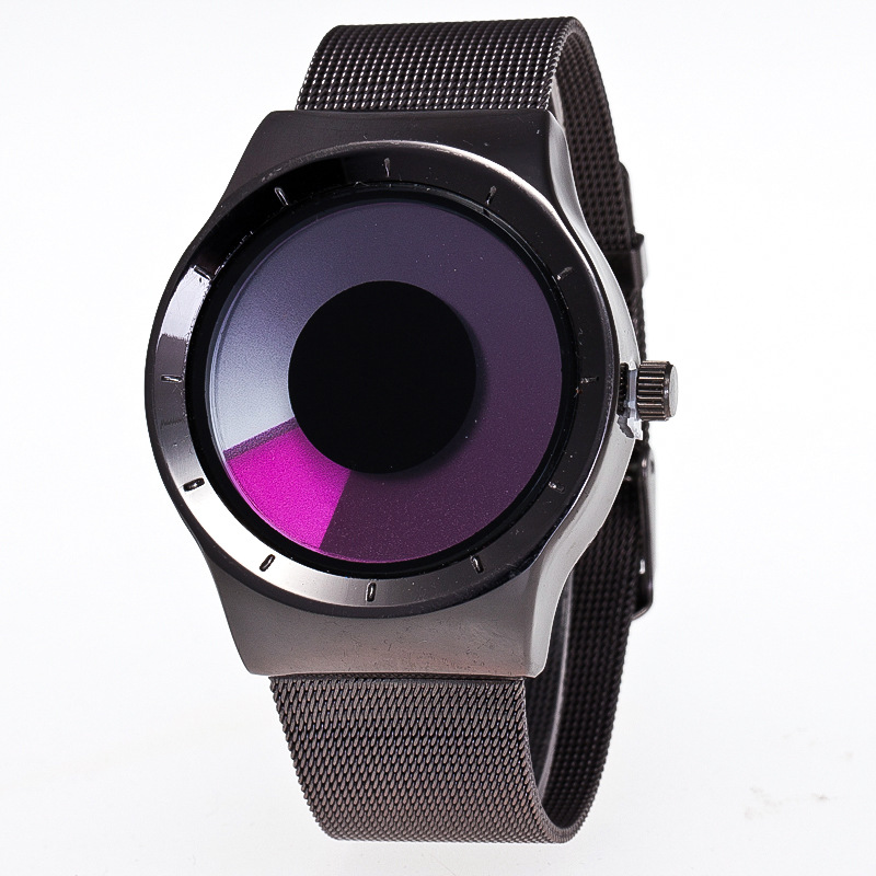 MINHIN Personality No Pointer Watch Concept Swirl Design Luminous Student Fashion Watch Women Men Creative Wristwatches
