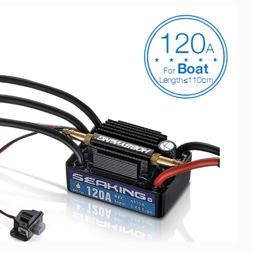 Hobbywing SeaKing V3 Waterproof 120A / 180A / 60A / 30A 2 6S Lipo Speed Controller 6V/5A BEC Brushless ESC for RC Racing Boat