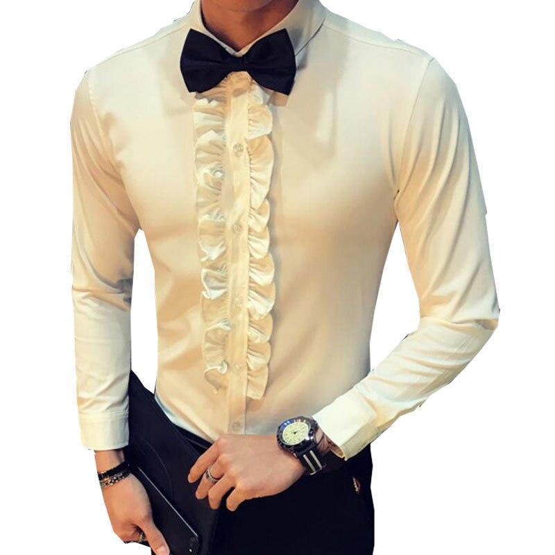 Retro Shirt Manner Hochzeit Rusche Vintage Shirt Weiss Manner Schwarz