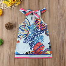 Mommy Toddler Girl Matching Boho Halter Dress