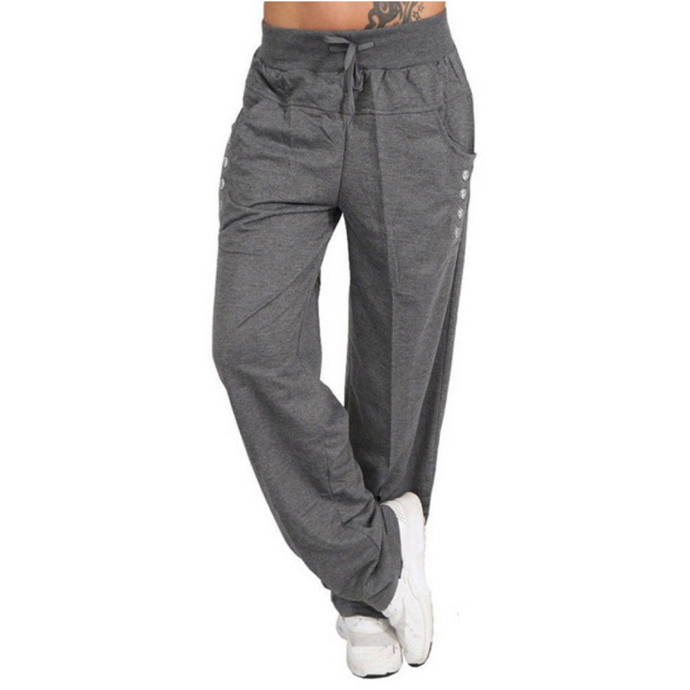 Womens Autumn Winter Wide Leg Sports Loose Casual Long Pants Trousers High Waist Casual Loose Trousers femme hot sale c0304