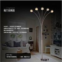 L Creative Nordic parabolic stainless steel five head fishing lamp Living room lobby office leisure floor lamp led