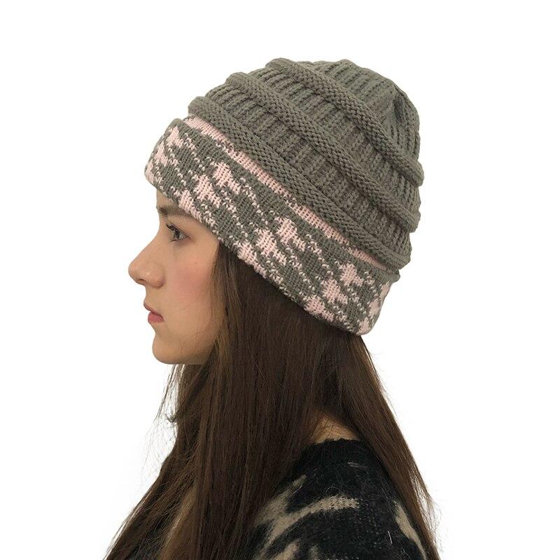 Women Knitted   Beanie   Winter Cotton bonnet femme Warm Hat female Hat Men Caps Girl   Skullies     Beanies   Winter Outdoor Hats for Women