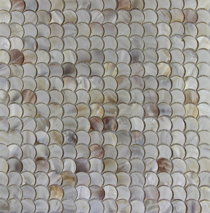 Fish Scale Fan Shape Shell Mosaic Mother Of Pearl Tiles