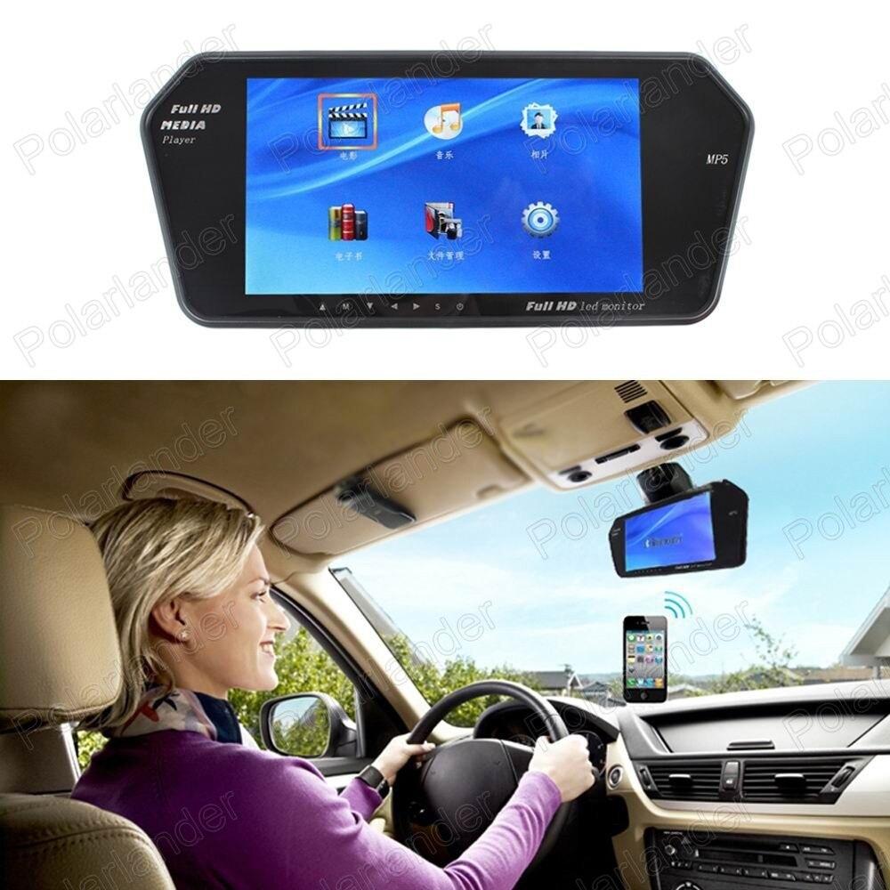 TF USB Bluetooth FM transmitter MP5 7 zoll Farbe TFT LCD 1024x600 Auto reverse Spiegel Monitor Parkplatz Monitor priorität
