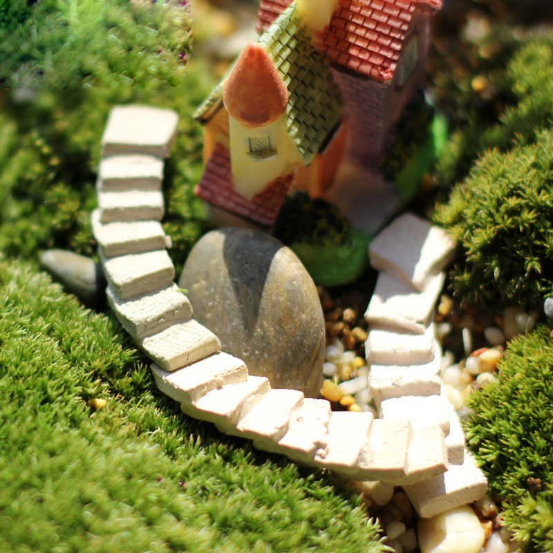 DIY Miniature Fairy Garden Craft Resin House Micro Landscape Deco LU