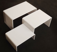 3pcs/set Multi functional white acrylic U shape display stand Jewelry display rack cosmetic holder stand shelf shoes holder rack