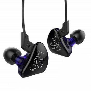 NOVOS Fones De Ouvido 1DD + 1BA Híbrido HIFI DJ Monitor de Fone De Ouvido Com Cabo de Substituição Fones de Ouvido Com Cancelamento de Ruído Fone De Ouvido Com Fio presente Extra