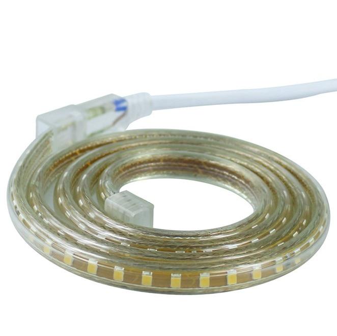 220 v Impermeabile Ha Condotto La luce di striscia con la Spina di UE 2835 SMD Luce della Corda flessibile, 120 Leds/M alta luminosità esterna decorazione dell'interno - 6