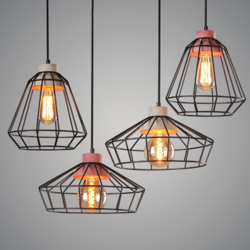 NEW Vintage Industrial Creative Iron Concrete Led E27 Pendant light for Restaurant Living room Bedroom Bar Deco Lamps 1668 new modern brief creative candy colors iron geometric led e27 pendant light for dining room living room bedroom deco lamps 2287