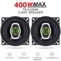 2pcs 4 Inch 10cm 400W 2 Way Hifi Car Coaxial Speaker Loudspeaker Auto Audio Music Stereo Full Range Frequency Loud Speakers
